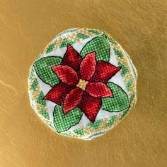 Poinsettia Biscornu & Christmas Mother & Child Ornaments - A Needle Pulling Thread Designers
