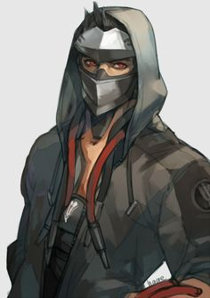 alternate costume artist name black hair blackwatch genji cyborg genji (overwatch) hands in pockets highres hood hooded jacket jacket male focus mask open clothes open jacket overwatch red eyes sae (revirth) simple background solo - Image View - Overwatch Genji, Overwatch Comic, Overwatch Memes, Overwatch Fan Art, Game Character, Character Concept, Character Outfits, Genji And Hanzo, Character Illustration