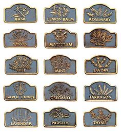 Brass Herb Markers