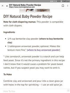 Natural rash powder