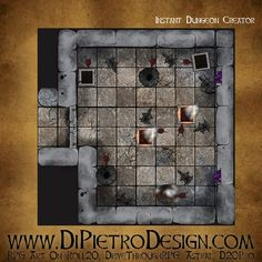 Dungeons By Dan - RPG Artwork for VTT and tabletop games Rpg Map, Dungeon Tiles, D 20, Fantasy Rpg, Tabletop Games, Games To Play, The Creator, How To Draw Hands, Creative
