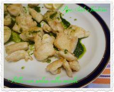 Pollo con salsa alla menta