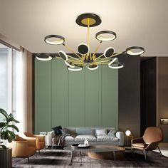 Chandelier In Living Room, Living Room Decor, Dining Room, Ceiling Lamp, Ceiling Lights, Room Lights, Spotlight Floor Lamp, Mood Board Interior, Chandelier Lighting