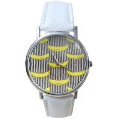 >> Click to Buy << Mens Womens Unisex Watches Pattern Leather Band Analog Quartz Vogue Wrist Watch Colour:White (Banana Pattern) #Affiliate