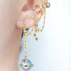 ✯土星はペット。な衛星イヤーカフ Satern Earcuff✯ Creema, Drop Earrings, Jewelry, Fashion, Owl Wallpaper, Moda, Bijoux, Drop Earring, Jewlery