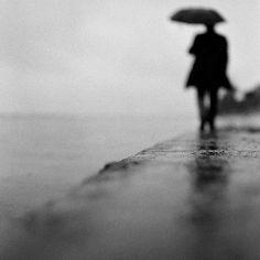 b&w; parapluie