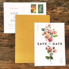 Sometimes it's just right | #savethedates by @venamour | #fireflyevents #weddings