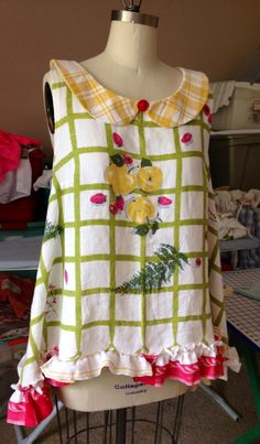 Vintage tablecloth shirt
