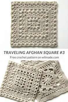 Crochet Afghan Square - Tulips from Holland by Wilmade - This Afghan Crochet Square is part of Lion Brand's Traveling Afghan Project. It's inspired by m - Point Granny Au Crochet, Crochet Squares Afghan, Crochet Motifs, Granny Square Crochet Pattern, Crochet Blocks, Afghan Crochet Patterns, Crochet Afghans, Knit Crochet, Crochet Blankets