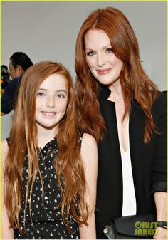 Julianne Moore takes her daughter Liv to the Reed Krakoff fashion show as part of the Mercedes-Benz Fashion Week Spring 2014 on September 11, 2013