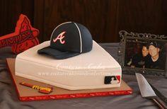 Atlanta Braves Baseball fan Groom's cake...