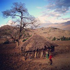 On the edge of an African sunset. En route, Yemrehanna Kristos to Lalilbela.
