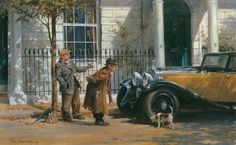 Alan Fearnley, 1942 ~ Retro a Classic Car Car Painting, Oil Painting On Canvas, Pintura Exterior, Automobile, Classic Race Cars, Different Art Styles, Norman Rockwell, Automotive Art, Art For Art Sake