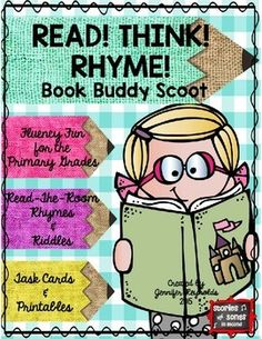 This resource was designed to engage young readers as you review basic rhyming skills and build reading fluency!It includes ten original poems with picture clues from Melonheadz Illustrating's Lucy Doris sets.  These can be collated into booklets for partner reading, projected onto a SmartBoard for group choral readings, or copied individually for literacy station review and practice. K-3 ELA $