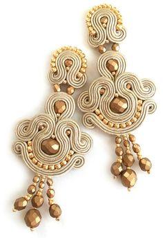 Bijoux de soutache Soutache post boucles d'oreilles par SaboDesign