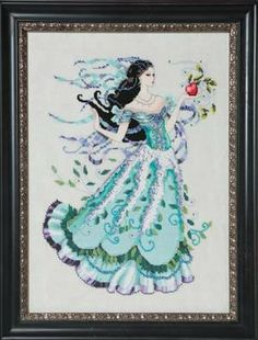 """""""Biancabella"""" is the title of this cross stitch pattern from Mirabilia with designer Nora Corbett's version of the fairy tale 'Snow White' a..."""