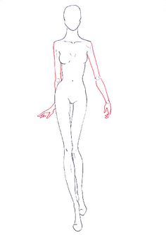 How to draw fashion figure walking for fashion design rendering