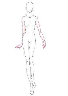 How to draw fashion figure walking