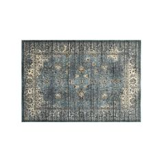 StyleHaven Evans Arabesque Traditions Framed Floral Rug, Blue, Durable