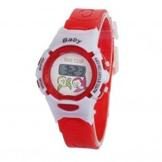 Cheap gift gifts, Buy Quality gift electronic directly from China gift girl Suppliers: Colorful Boys Girls Time Electronic Digital Students Sport Wrist Watch Xmas Gift Colour:Red Best Kids Watches, Cool Watches, Watches For Men, Children's Watches, Black Rubber Bands, Digital Wrist Watch, Led Watch, Girls Time, Fitness Watch