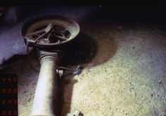 A telegraph from the Titanic was lays on the ocean floor during an expedition to the site. #Titanic