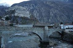Il Forte di Bard, vista dal ponte che conduce a Hone - Valle d'Aosta - Italia