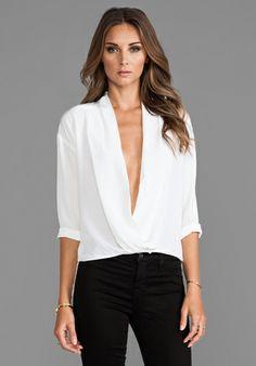 By Malene Birger Modern Elegance Popsi Top in Pure White