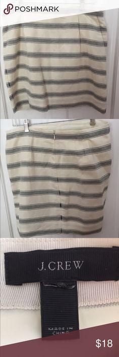 J. Crew skirt. Blue and white striped. J. Crew Skirts Mini