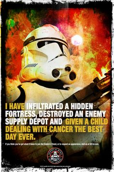 Star Wars clone trooper #StarWars #501st #Cancer