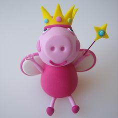 Princess Peppa Pig Cake Model/topper cakepins.com
