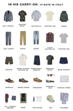 Men'S italy packing list paris packing, packing for europe, travel capsule, packing for Holiday Packing Lists, Summer Packing Lists, Weekend Packing, Vacation Packing, Packing List For Travel, Packing Tips, Travel Tips, Camping Packing, Budget Travel