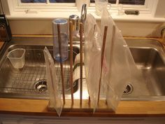 DIY Plastic Bag Drying Rack