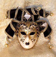 Carmen Large Jester Mask  masquerademasksonline.com