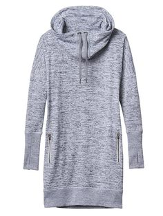 Sport It Dress - With the look and feel of a marled sweater in a stretch performance jersey, this cowl sweatshirt dress is the perfect fit for life on the go.