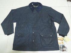 Vtg Mans Barbour  Bedale Navy Wax Jacket Size 42 #Barbour #BasicCoat