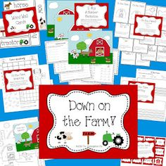 The Kindergarten Pod: Down on the Farm!  Lots of great, fun activities and printables!