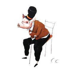 Illustration originale de Carll Cneut - Assis | Oeuvres | Galerie Robillard