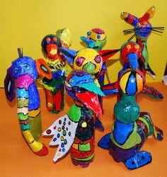 Kunstunterricht in der Grundschule, Kunstbeispiele für die Klasse 4,Schuljahr2008-2010 - 136s Webseite!