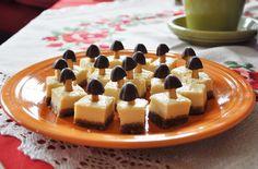 Dulce de leche cheesecake with Meiji Kinoko No Yama