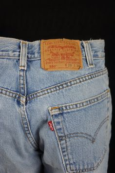 Levi's 501 shrink to fit 34x32 vintage denim mom jeans IH3EA5nzR