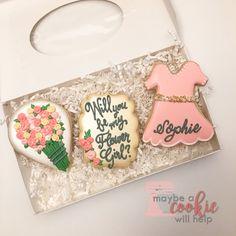 Be my flower girl cookie set