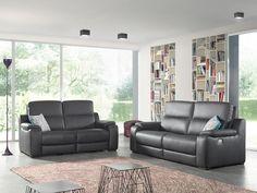 TOMENN - Prachtige, stijlvolle salon die geschikt is voor elk modern interieur ! Bovendien kan u dankzij de geïntegreerde elektrische relax optimaal ontspannen   Meubelen Crack