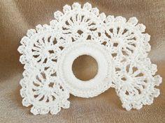 4 PCS White Crochet Napkin Rings Table by SandyCraftUK on Etsy Manta Crochet, Knit Or Crochet, Crochet Motif, Crochet Crafts, Crochet Doilies, Fabric Crafts, Crochet Projects, Crochet Table Mat, Knitting