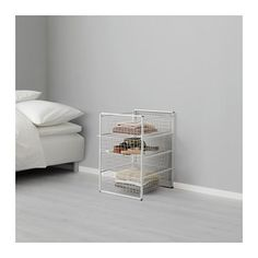 IKEA - ANTONIUS, Frame and wire baskets, A flexible system with many possible combinations; choose a combination that fits the space available and meets your storage needs.Also stands steady on an uneven floor since the feet can be adjusted.