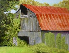 """Madison Barn,"" 2016, oil on linen/panel, 9"" x 12"""