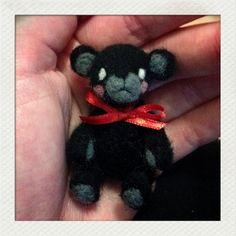 Needlefelted bear miniature for dolls