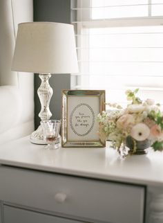Such a beautiful nightstand. Read more - http://www.stylemepretty.com/living/2013/08/13/breakfast-in-bed-from-a-vintage-affair/