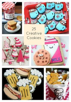 This collection of 25 creative cookie recipes, curated from around the web, gives you great ideas for year-round baking! You'll want to bookmark this to come back to it before baking for any occasion.