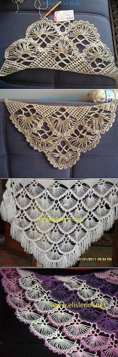 """helpmefind.ru """"Discover thousands of images about Beautiful white lacy crocheted shawl ."""""""