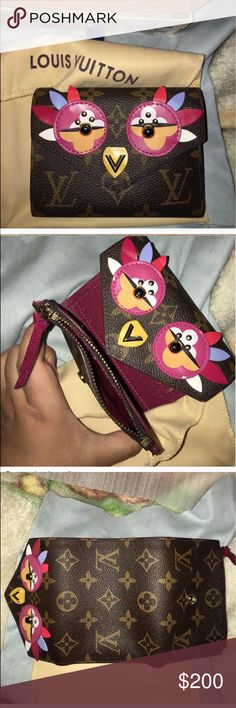 Burgundy rooster victorine wallet Brand new. Zipper is broken split and stuck. Plss....dontaskobviouss.. Louis Vuitton Bags Wallets